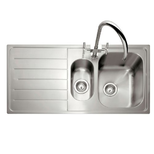 Caple Lyon 150 Stainless Steel One and a Half Bowl Inset Kitchen Sink
